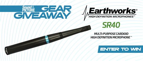 Audio Gear Giveaway - gear giveaway win an earthworks sr40 cardioid microphone sound picture