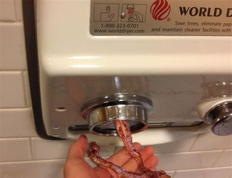 Hand Dryer Meme - hand dryer that gives bacon baconcoma com
