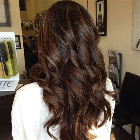 black hair with chocolate brown highlights dark brown hair with caramel highlights and lowlights