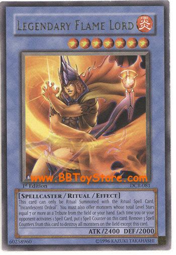 fly pattern trading cards yu gi oh card dcr 081 legendary flame lord rare
