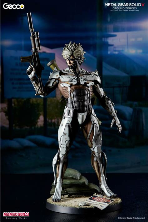 Raiden White Statue By Gecco gecco 1 6 metal gear solid v ground zeroes jamais vu mission raiden statue white armor ver
