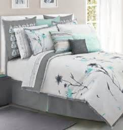 teal and gray floral bedding color bedroom