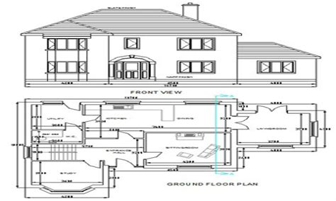 free house free dwg house plans autocad house plans free download