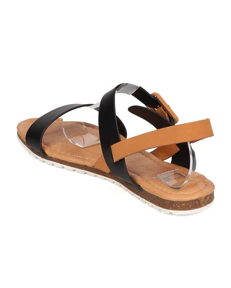 new betani olga 1 leatherette open toe band slingback flat sandal