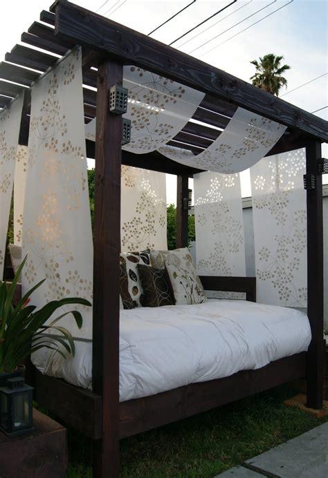 diy backyard cabana outdoor furniture design and ideas