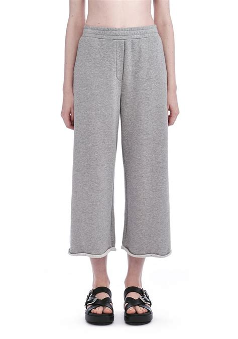 Wide Leg Sweatpants terry cropped wide leg sweatpants