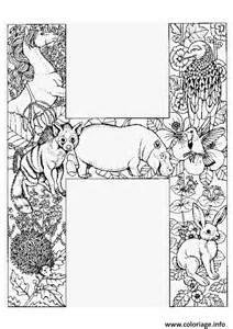 Coloriage lettre h alphabet animaux 224 imprimer alphabet 2016 09 22