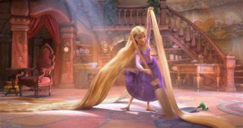 film cartoon tangled tapeworthy long beautiful hair tangled movie review