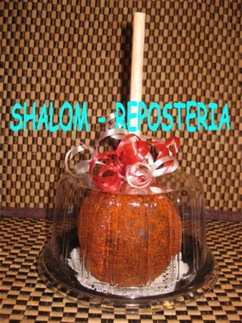 domos individuales manzana caramelo mini pastel fondant  en mercado libre