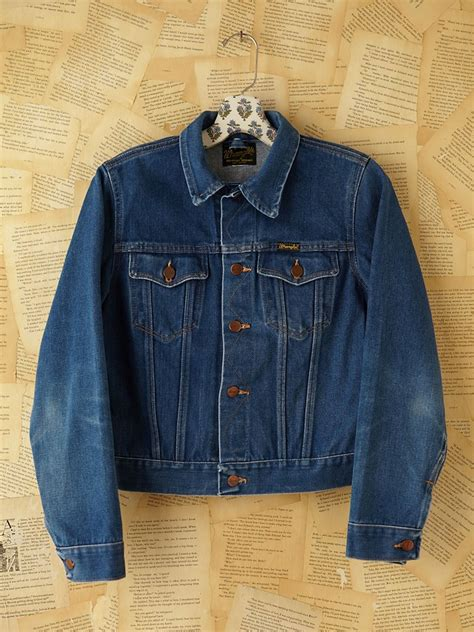 Blue Retro Denim Top 42825 lyst free vintage wrangler jean jacket in blue
