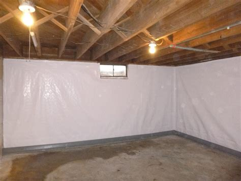 basement wall vapor barrier cleanspace wall liner