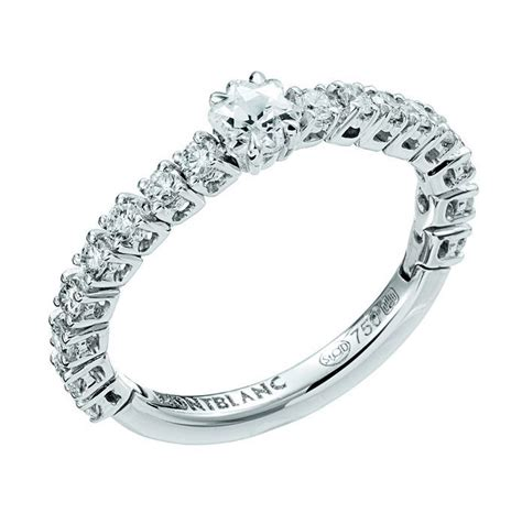 Montblanc Mb014 Brown Ring Rosegold montblanc s jewellery la dame blanche tendresse collection ring in white gold with