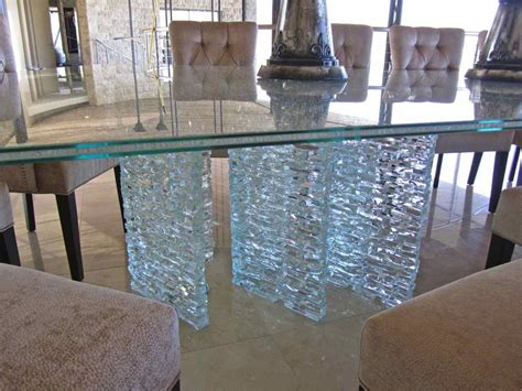 Custom Dining Room Chairs shattered glass sans soucie art glass