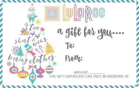 Lularoe Gift Card Template by 25 Unique Gift Certificates Ideas On Free