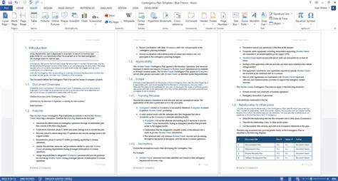 sle contingency plan template contingency plan templates ms word 9 x excels