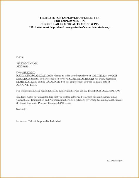 appointment letter format excel employee offer letter template tire driveeasy co