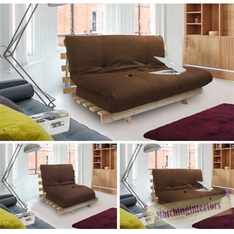 futon rahmen braun studio futon holzrahmen sofabett schlafen