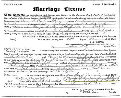 los angeles county wedding permit 2 licence de mariage 224 los angeles peinture