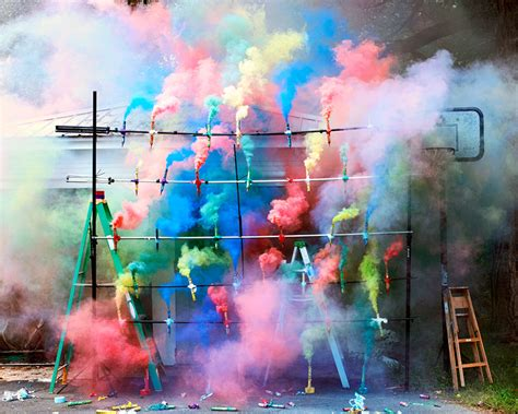 color bombs the of smoke bombs and fireworks by olaf breuning