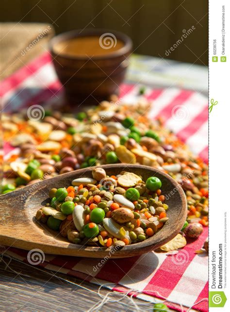 mixing and food legumes dlicious and healthy mix food stock photo image 60238756