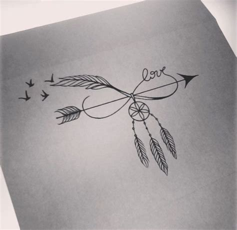 Dreamcatcher Infinity Tattoo | arrow infinity dream catcher birds tattoo tatto