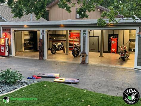 ultimate man cave garage makeover installed  kansas city
