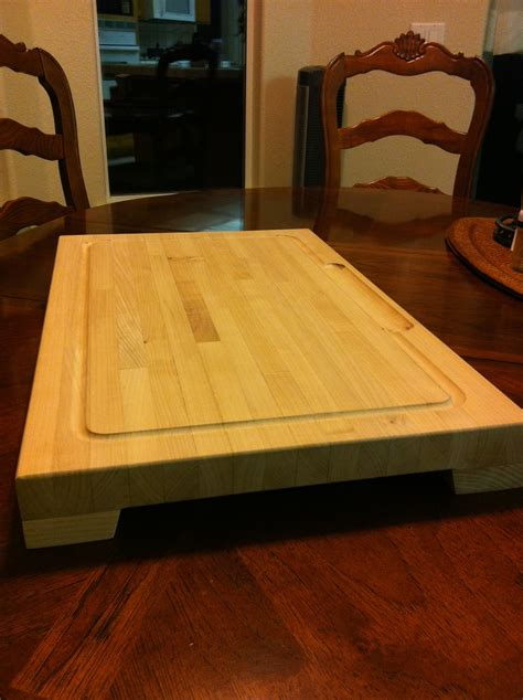 ana white huge butcher block cutting board