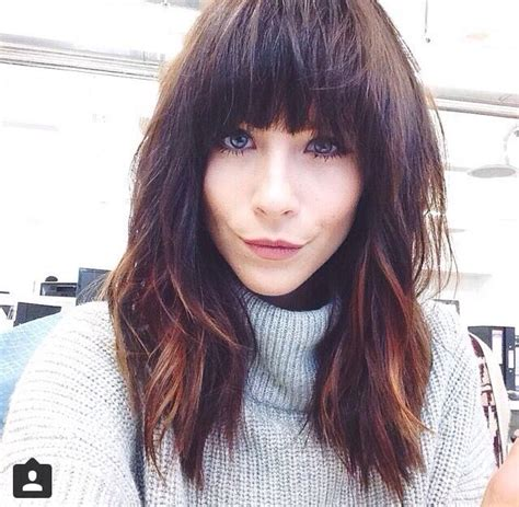hairstyle ideas with a fringe 25 best ideas about full fringe hairstyles on pinterest