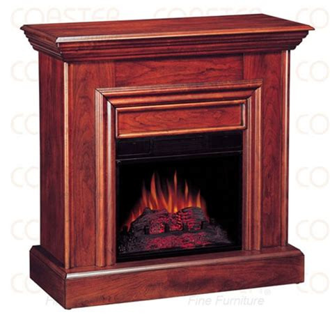 decorative electric fireplace wall mantel in cherry finish