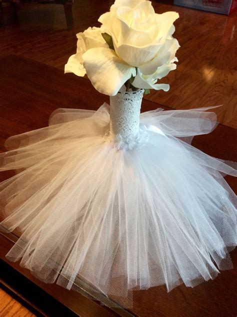 Bridal Shower Centerpieces by Wedding Bridal Shower Tulle Dress Centerpieces Ebay