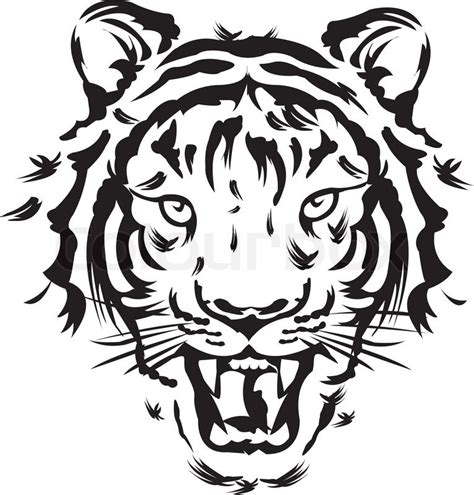 tiger tattoo vectors stock vector colourbox