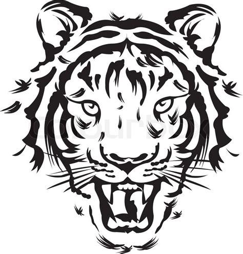 tiger tattoo vectors stock vector colourbox