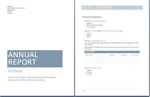 annual report template format template
