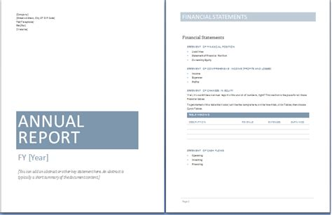 annual report template  commercewordpress