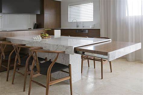 hidden kitchen table modern kitchen table that extends decoist