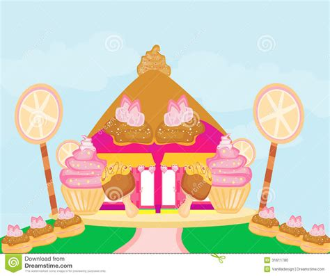 Cute Small House Plans Candy House Stock Photo Image 31611780