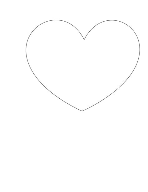 6 best images of small heart outline printable small