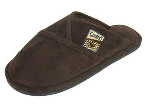 slipper brands mens coolers brand microsuede club logo slip on
