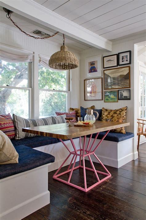 banquette seating   kitchen dining nook home decor