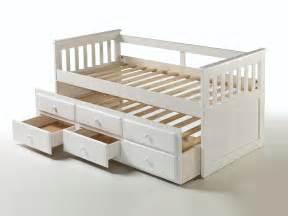 lit gigogne en bois massif avec 2 tiroirs couchage 90x190