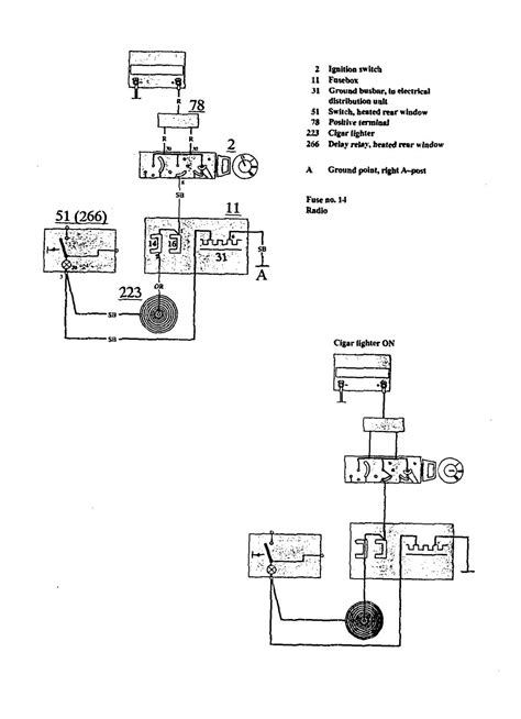 volvo 940 1991 wiring diagrams cigar lighter