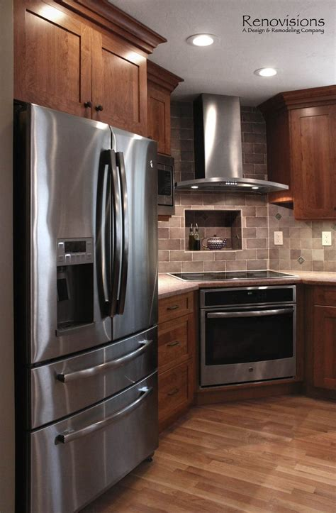 kitchen with stainless steel appliances 17 best ideas about corner stove on pinterest cherry