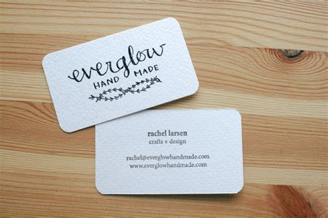 Handcrafted Card Company - handmade embossed business cards everglow handmade