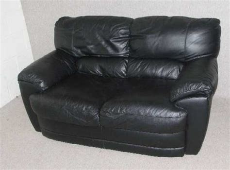 Antiques Atlas Black Leather 2 Seater Sofa Land Of Leather Sofas For Sale