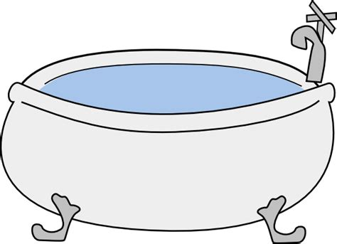 bathtub big no background clip at clker vector
