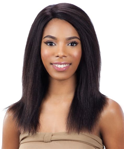 pics of women with 1 inch hair model model dreamweaver 100 remy hair wig yaky cap 18 inch
