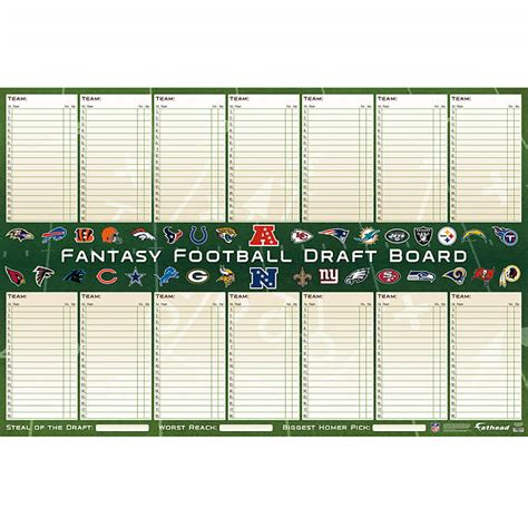 football draft board template shop football wall decals gifts fathead nfl