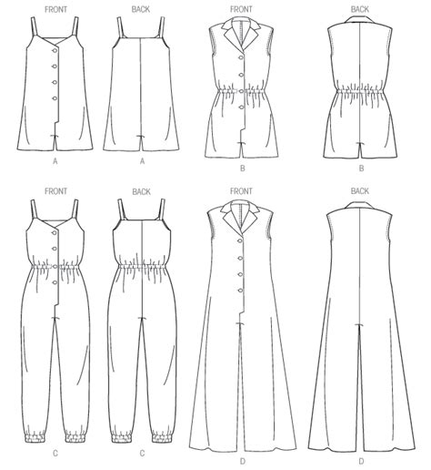 jumpsuit pattern free sewing m6969 misses rompers and jumpsuits pants shorts