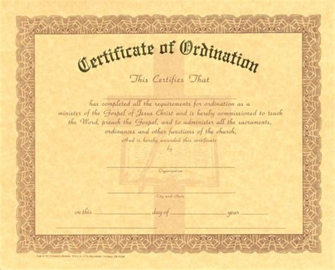 deacon ordination certificate template deacon certificate