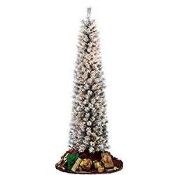 amazon com flocked pencil slim christmas tree 7ft with